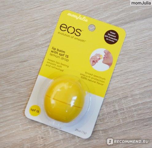 Бальзам для губ EOS оригинал упаковка