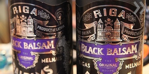 На снимке Рижский черный бальзам