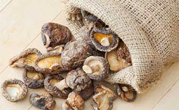 Сушеные грибы в мешочке