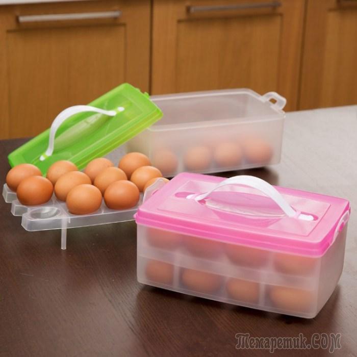 сколько можно хранить вареные яйца в холодильнике - контейнеры