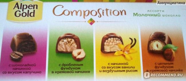 Конфеты Alpen Gold Composition фото
